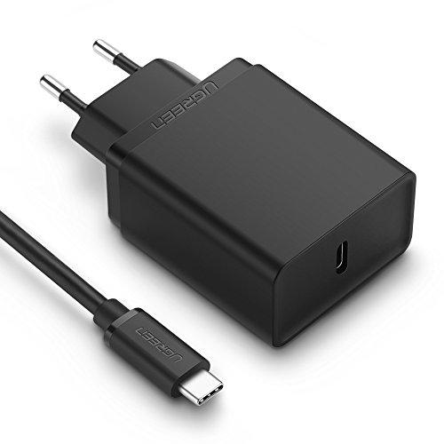 UGREEN Cargador USB C Power Delivery 2.0, USB PD Cargador Rápido QC 3.0 Compatible para Google Pixel 2/ Pixel 2 XL, Macbook Pro, Samsung S8/ S8 Plus, Nexus 5X/ 6P, Huawei P10/ P9, Más