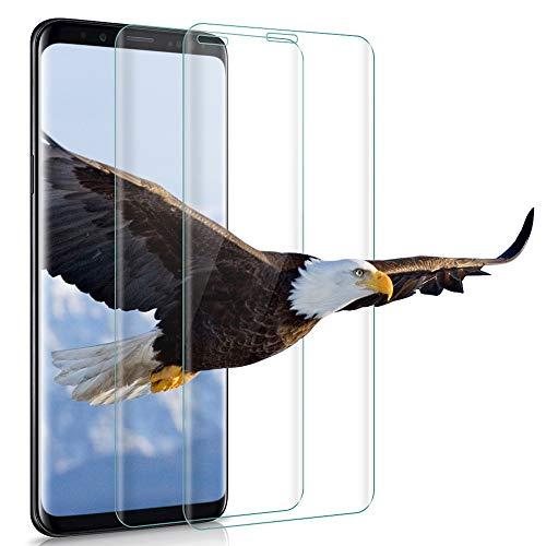 wsiiroon Schutzfolie für Samsung Galaxy S9 Plus Panzerglas, Anti-Öl Anti-Bläschen 9H Härte Glasfolie, Anti-Kratzen Anti-Fingerabdruck Panzerglasfolie Displayschutzfolie [2 Stück]