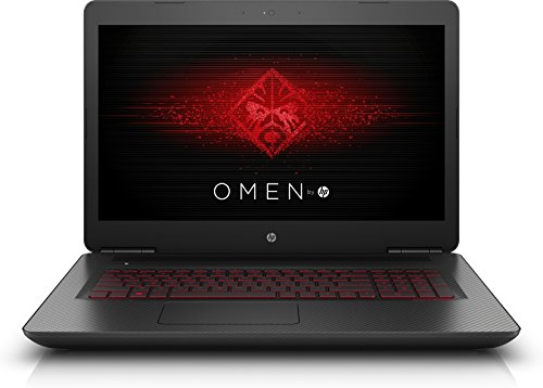OMEN by HP (17-w203ng) 43,9 cm (17,3 Zoll / Full-HD IPS) Gaming Laptop (Intel Core i5-7300HQ, 8 GB RAM, 1 TB HDD, 256 GB SSD, NVIDIA GeForce GTX 1050, Windows 10 Home 64) schwarz mit Carbon-Optik