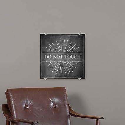 Chalk Burst Premium Acrylic Sign Do Not Touch CGSignLab 16x16