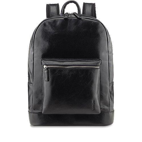 Picard Buddy 5891 schwarz, Leder Rucksack Daypack mit Tabletfach für 7-10 Zoll iPads, Galaxy etc. und viel Platz