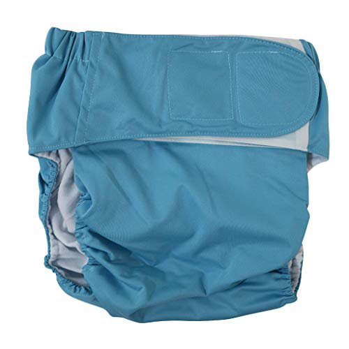 dailymall Wiederverwendbar Erwachsene Unterwäsche Inkontinenz-Windelhose Windel für Ältere Behinderte Patienten - Blau, 50-130 cm