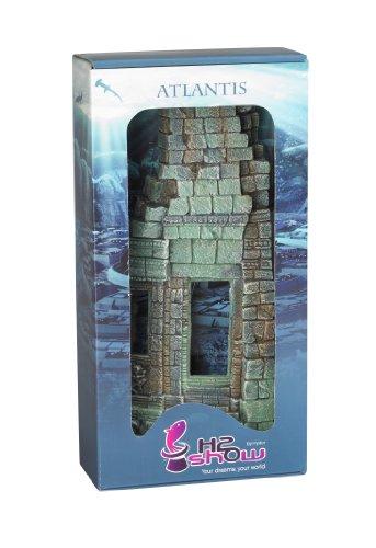 Hydor B00330 Aquariendekoration Atlantis Tempel rechts, Höhe 36 cm