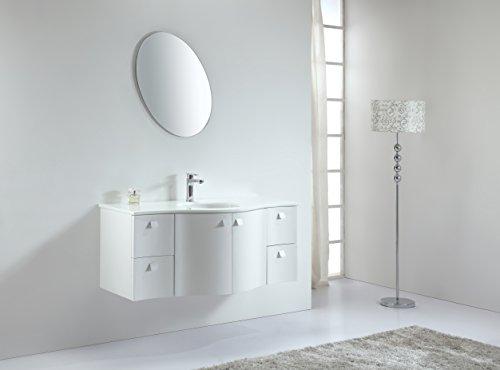 BARINA-BAD© Echtholz Badmöbel Set, Waschtisch, Waschbeckenunterschrank, Soft-Close Funktion, Spiegelschrank, Callida