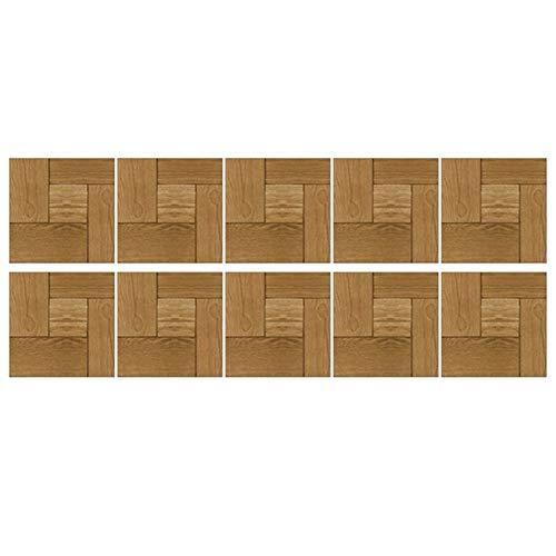 Kalaokei 10 Stück Fliesen Wandaufkleber Wasserdichte Rutschfeste Küche Esszimmer DIY Boden Aufkleber Aufkleber Pack Aufkleber Aufkleber Für Laptop, Wasserflaschen, Gepäck, Skateboard H.None