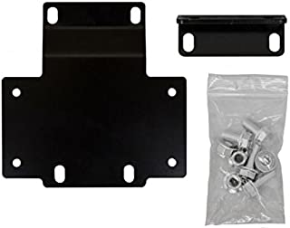 SuperATV Heavy Duty Winch Mounting Plate for Honda Pioneer 1000 (2016+)
