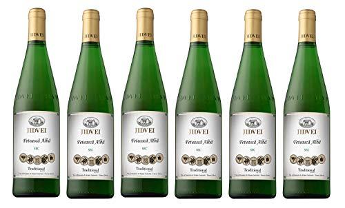 Jidvei   TRADITIONAL Feteasca Alba - Vin Alb Sec   Weißwein trocken aus Rumänien   Weinpaket 6 x 0,75 L D.O.C. + 1 Kugelschreiber Amigo Spirits gratis
