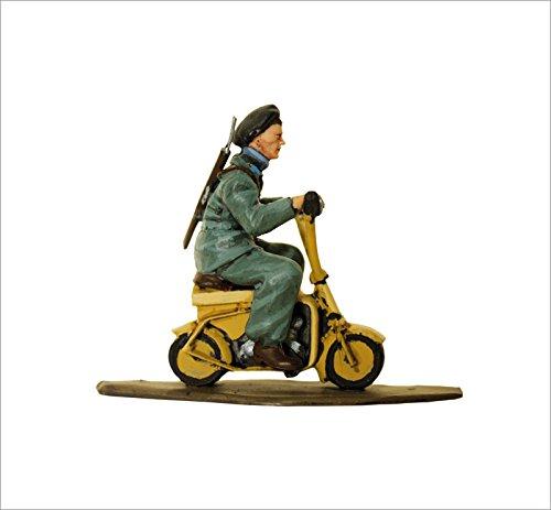 Soldados de plomo en motocicleta Aeromoto Volugrafo., Paracaidista batallon Nembo - SMI010