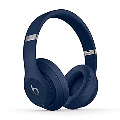 Beats Studio3 Wireless Noise Cancelling Over-Ear Headphones - Apple W1 Headphone Chip, Class 1 Bluetooth, Active Noise Cancelling, 22 Hours Of Listening Time, Built-in Microphone - Blue by Apple Computer