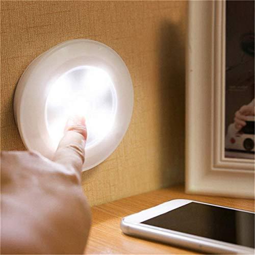LED-lamp plafond hangend helder LED-nachtlicht batterij plafondlamp voor keuken kast draadloze afstandsbediening (Color : White Light)