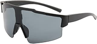 QWKLNRA - Gafas De Sol para Hombre Lente Negra De Marco Negro Polarised Sports Sunglasses Gafas De Sol Deportivas Deportivas Road Bicycle Glasses Mountain Cycling Protection Gafas De Sol
