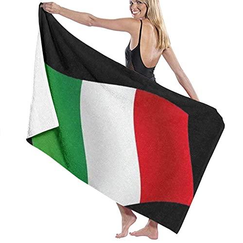 Lsjuee Toalla de baño de 80X130CM, Toallas de baño de Bandera Italiana de Italia Italia Toallas de baño de Playa súper absorbentes para Toallas de Playa de Gimnasio