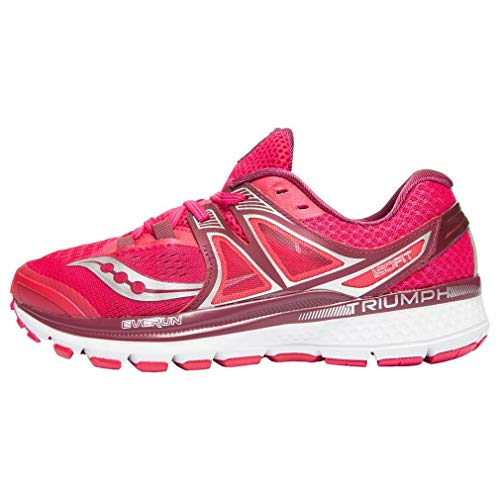 Saucony Women's Triumph iso 3 Running Shoe, Pink/Berry/Silver, 8 M US