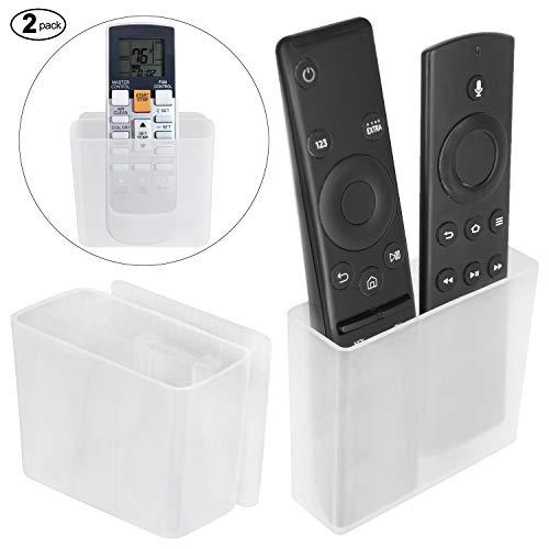 Pinowu Universelle Halterung für eine TV Fernbedienung 8.6x7.5x3.5cm (2 Stück), Wandhalterung Tischhalter Aufbewahrungs Kasten für Klimaanlage Fernbedienung