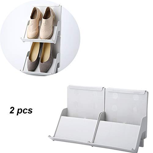 LaMei Yang Organizador de Zapatos prolijamente, Zapatero apilable, Zapatero portátil de plástico Empalmado, Moderno Bastidor Multifuncional para Acabado de Zapatos, Adecuado para Todos los Zapatos