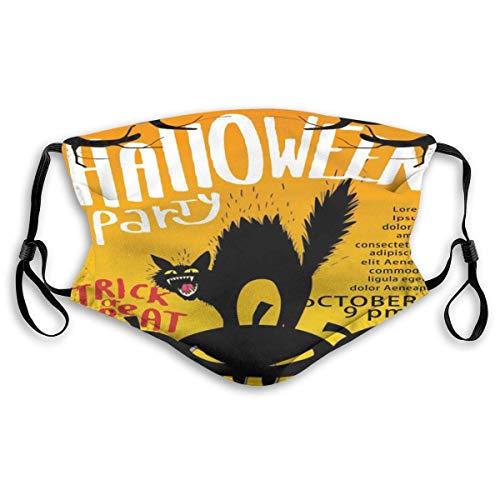 Gezichtsmaskers Halloween Party Enge Kat Pompoen Sport Masker Anti Stof Beschermd Lachende Maskers Wasbaar Herbruikbare Mond Masker Wit