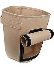 FLAMEER Dokumasız patates balmumu torbaları, saplı ve hasat pencereli, yıkanabilir balmumu torbalar, bitkiler, saksılar, kahverengi