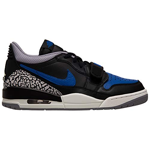 Nike Air Jordan Legacy 312 Low Mens Sneakers CD7069-041, Black/Game Royal-White-Cement Grey
