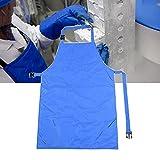 YSNJIN Delantal a Prueba de Nitrógeno Líquido para Investigación de Laboratorio, Altamente Aislado, Suave, Duradero y Elástico, Cryo-Delantal de Seguridad,110cm