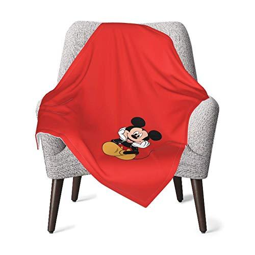 Lindo ratón-rojo bebé manta super suave felpa poliéster cálida recepción manta para niña y niño acogedora manta para cuna, cochecito