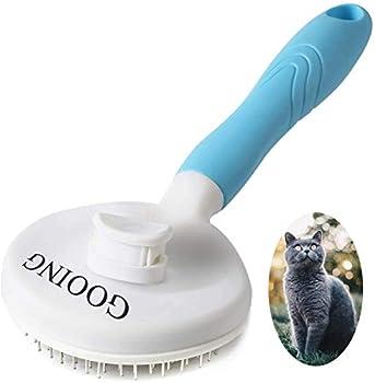 Brosse Chiens Chats, Autonettoyante Brosse poils morts pour chat chien, Enlèvement Efficace jusqu'à 95% des Poils Morts et Poils Tomentose, adapté pour les Chiens Chats cheveux courts et longs