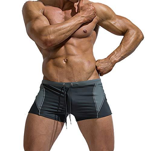 Oulian Maillot de Bain Homme Boxer de Bain Elastique pour Natation Piscine
