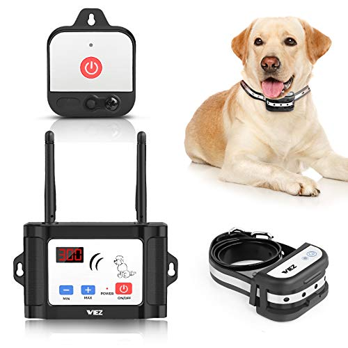 WIEZ Wireless Dog Fence with Additional Transmitter,2021Upgraded Electric Dog Fence with Training Collar,Dual Antenna,Adjustable Range Control...