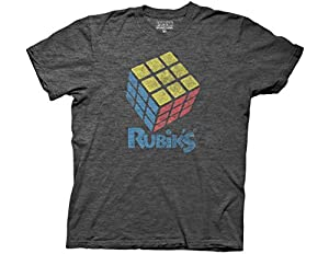Official distressed look Rubik's Cube T-shirt