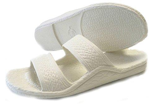Pali Hawaii Adult Classic Jandals Sandals White 10