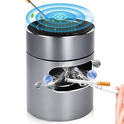 灰皿 空気清浄機 脱臭機 卓上 スモークレス灰皿 イオン発生器 高性能活性炭フィルター搭載 電子ライター機能付き 3階段風量切替 USB充電式 USBケーブル付き タバコの煙を吸い込む 家族の健康を守り オフィス 部屋 車にも適用 日本語説明書付き
