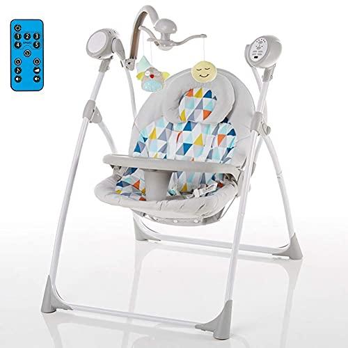 Multifunktionaler Babyautomatischer Schaukelstuhl, faltbar mit Fernbedienung, Baby schwingt automatisch den Stuhl/Essstuhl, ETS-Sicherheitstest WDH666