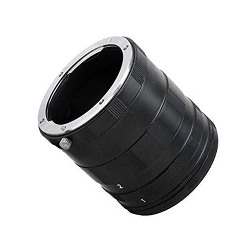 Monllack Adaptador de Anillo de Tubo de extensión Macro, Adaptador de cámara Anillo de Tubo de extensión Macro para Lente de cámara Nikon (Negro)