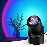 Lámpara de Sunset Joycabin Sunset con proyección LED con USB, romántica visual, luces de puesta de sol para decoración, fotografía, colores del arco iris en directo