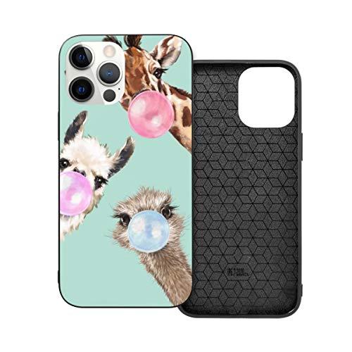 Compatibile con iPhone 12 Pro Max Caso, Bubble Gang In Green Frame Art Hybrid PC+TPU Soft Touch Custodia Protettiva Antiurto Sottile Cover 5G (17,7 cm)