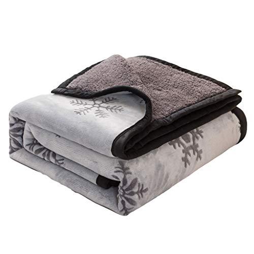 La imitación de lana de cordero manta del tiro for Couch caliente y invierno de la felpa suave manta manta reversible difusa for sofá cama Mantener caliente ( Color : Gray , Size : 180*200cm )