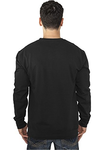Urban Classics Contrast Pocket Crewneck Pull, Multicolore (Charcoal/Leather 00694), Large Homme