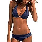Anmain Costume da Bagno Donna Costumi da Bagno Push Up Costume da Bagno Brasiliano Halter Costume da Bagno retrò da Spiaggia Bikini Spiaggia Estate Elegante