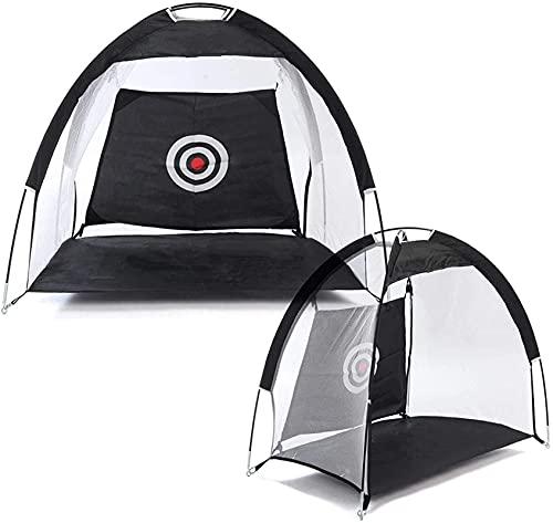 N/Z Campingausrüstung Campingzelt Golf-Fahrnetz für Kinder/Erwachsene Faltbares Golf-Schlagnetz Fahrkäfig Übungszelt Indoor-Outdoor-Golf-Trainer Einfacher zu tragen und aufzubauen (Farbe: Schwarz Grö