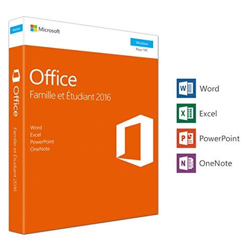 Microsoft MS Office 2016 Heim und Studenten [FR] PKC2 Schwarz