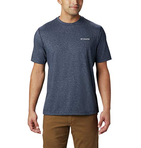 Columbia Men's Thistletown Park Crew Short Sleeve Tee, X-Large - Nocturnal Heather