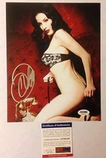 Dita Von Teese Sexy Hand Autographed Signed Memorabilia 8x10 Photo PSA/DNA Authenticated Burlesque Star