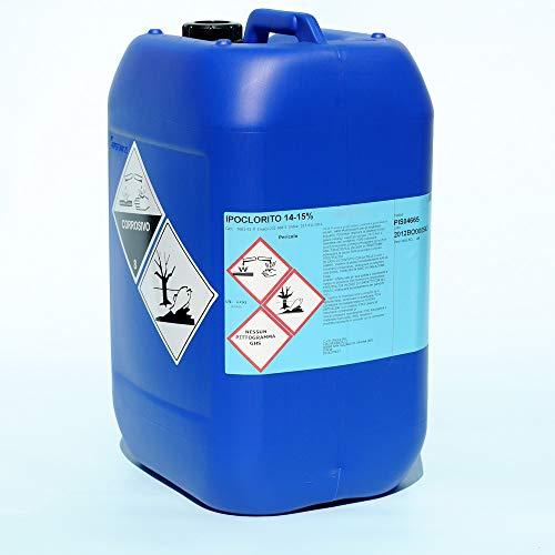 Brenntag Cloro Liquido Ipoclorito Pure BIOCIDA 15% Tanica 10 Litri per Piscina sanificazione Pavimenti antimuffa