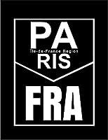 【FOX REPUBLIC】【パリ フランス ロゴ】 黒光沢紙(フレーム無し)A3サイズ