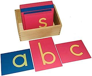 Montessori Lower Case Sandpaper Letters w/Box
