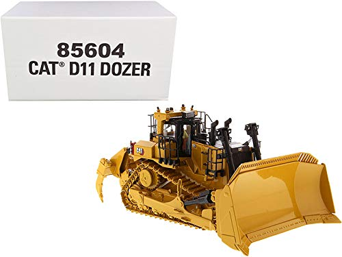 Diecast Masters CAT Caterpillar D11 Fusion Track-Type Tractor Dozer with Operator High Line Series 1/50 Diecast Model 85604