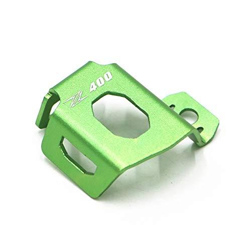 LIWIN Motorradzubehör For Kawasaki Z400 Z650 Z900 Motorrad Bremse hinten Pumpe Bremsflüssigkeitsbehälter-Schutz-Schutz-Öl-Cup-Abdeckung Kupplungsflüssigkeitsbehälter (Color : Z400 green)