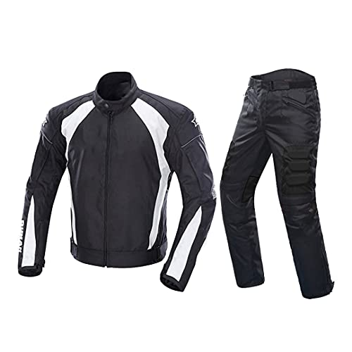 Pokem&Hent Chaqueta de Moto Hombre + Pantalones Traje de Campo traviesa a Prueba de frío Traje de Viaje a Prueba de frío