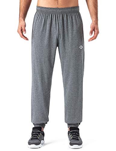 Naviskin joggingbroek voor heren, 100% katoen, ademend, zacht, vrijetijdsbroek, relaxbroek met elastische manchetten