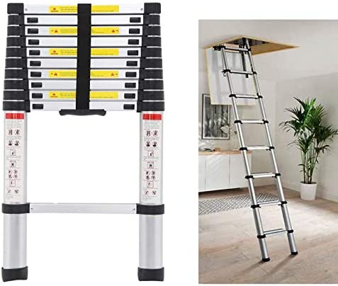 Telescoping Loft Ladder Extension Ladders 10 5ft 330lbs Max Load for Attic Loft RV Roof Home product image