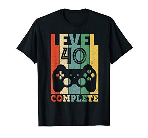 40. Geburtstag 40 Jahre Level 40 Party Männer 1980 Geschenk T-Shirt